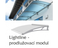 Prodlužovací modul pro vchodovou stříšku Polymer, Lightline XL