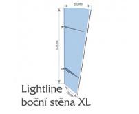 Boční stěna pro stříšku nad vchod Polymer, Lightline XL