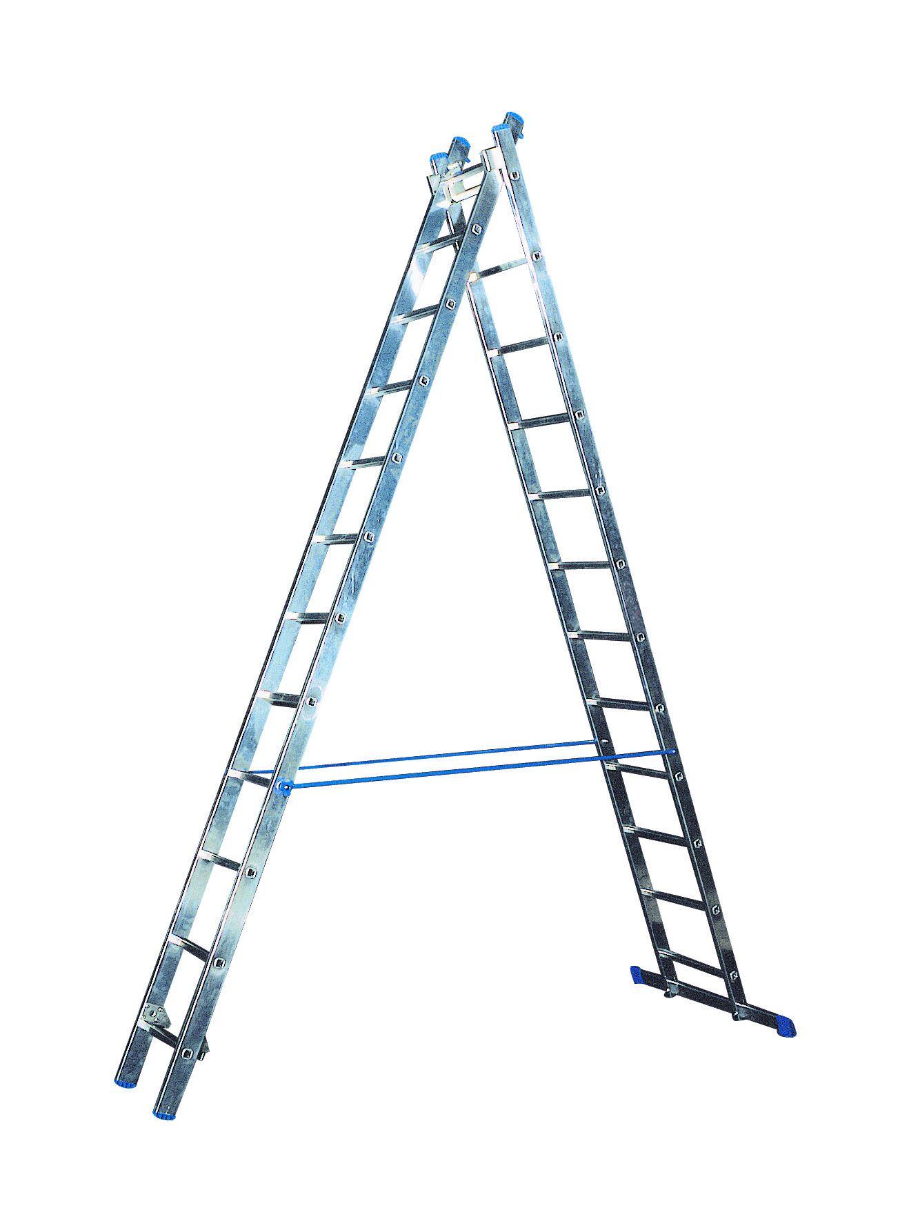Žebřík hliníkový víceučelový HOBBY VHR H 2x11 Al