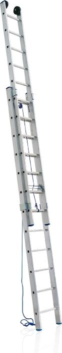 Žebřík hliníkový s lanem VHR 2x15L Al