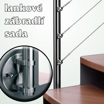 Lankové zábradlí - sada pro boční kotvení