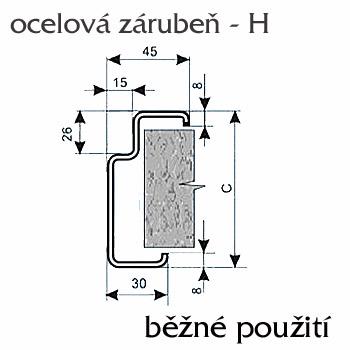 Ocelové zárubně ZAKO pro běžné zdění H