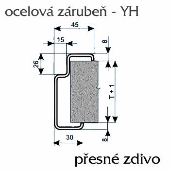 Ocelové zárubně ZAKO pro přesné zdění YH