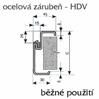 Ocelové zárubně ZAKO pro běžné zdění s těsněním H-DV