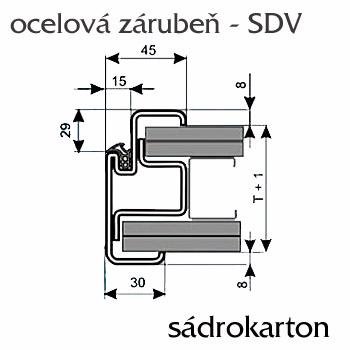 Ocelové zárubně ZAKO do sádrokartonu s těsněním S-DV