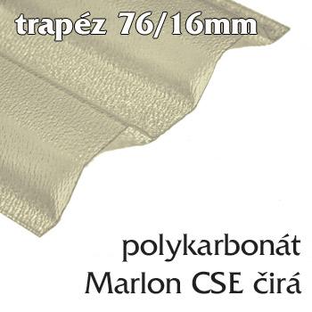 Polykarbonátová trapézová deska Marlon CSE 76/16 čirá