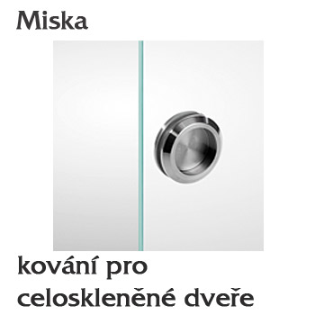 Miska pro skleněné dveře