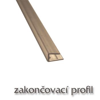 Ukončovací U profil - polykarbonát