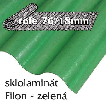 Sklolaminát Filon 76/18 zelená - vlnitá role