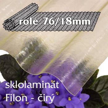 Sklolaminát Filon 76/18 čirá - vlnitá role