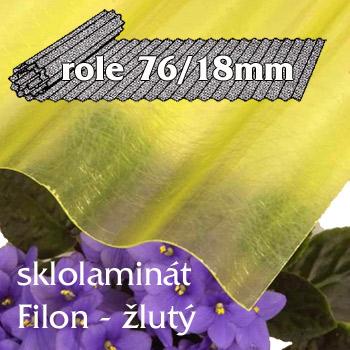 Sklolaminát Filon 76/18 žlutá - vlnitá role