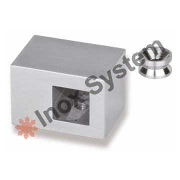 Zábradlí - Držák výplně průchozí 12 x 12mm nerez AISI 304