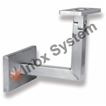 Zábradlí - Držák madla na zeď pro jekl 40x40mm kloubový nerez AISI 304
