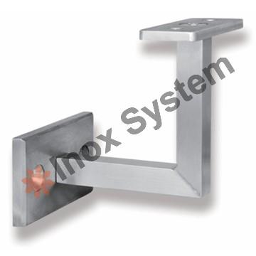 Zábradlí - Držák madla na zeď pro jekl 40x40mm pevný nerez AISI 304