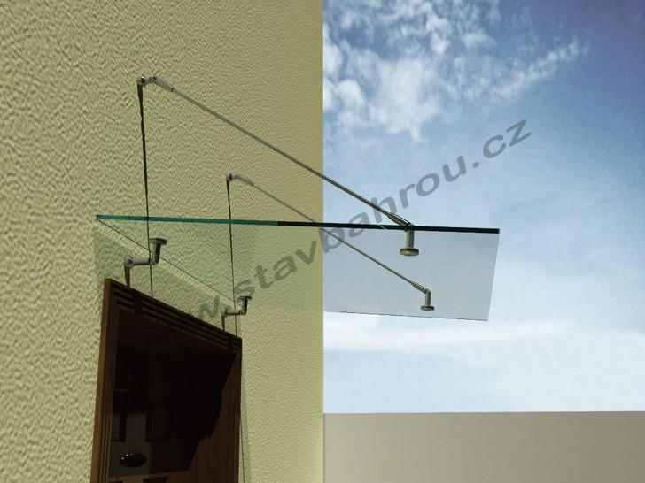 Stříška s bezpečnostním lepeným sklem DAMA 1400 x 1000 mm