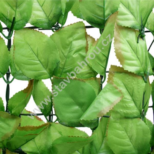 Umělý živý plot Fagus - listy vejčitého tvaru výška role 1,5m