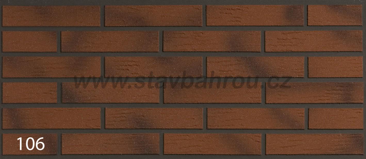 Cihelný obkladový pásek IZOFLEX, č.106 pálený cihlový