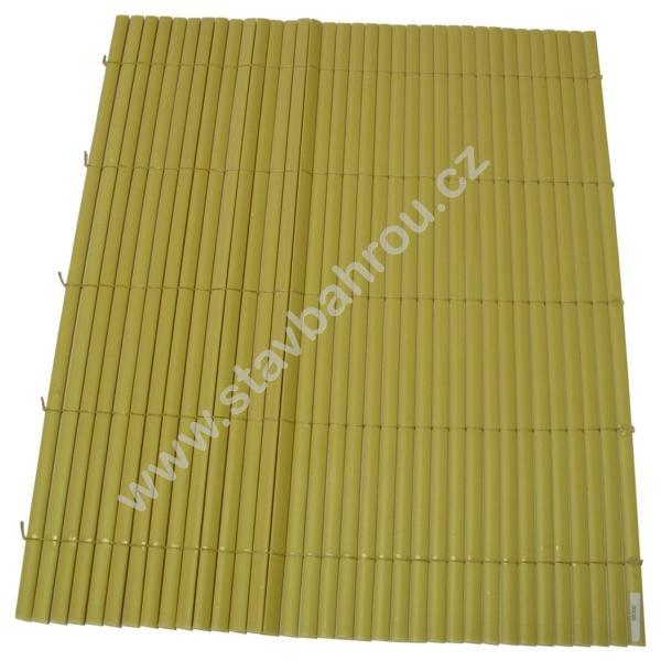 Bambusová rohož žlutá výška role 1,5m