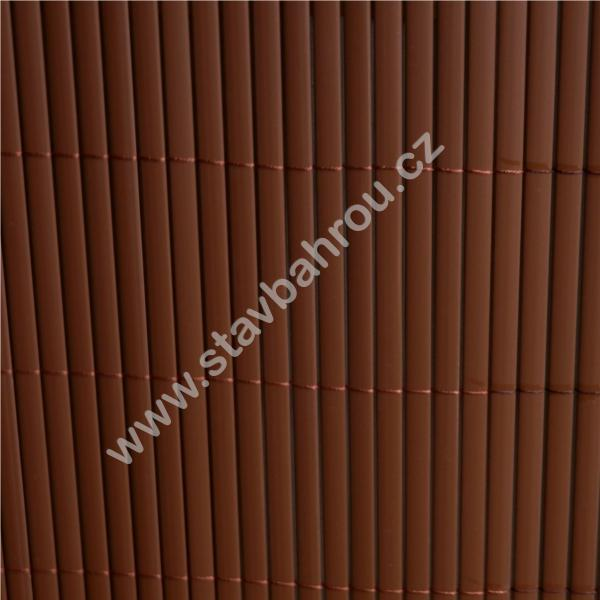 Bambusová rohož hnědá výška role 1m