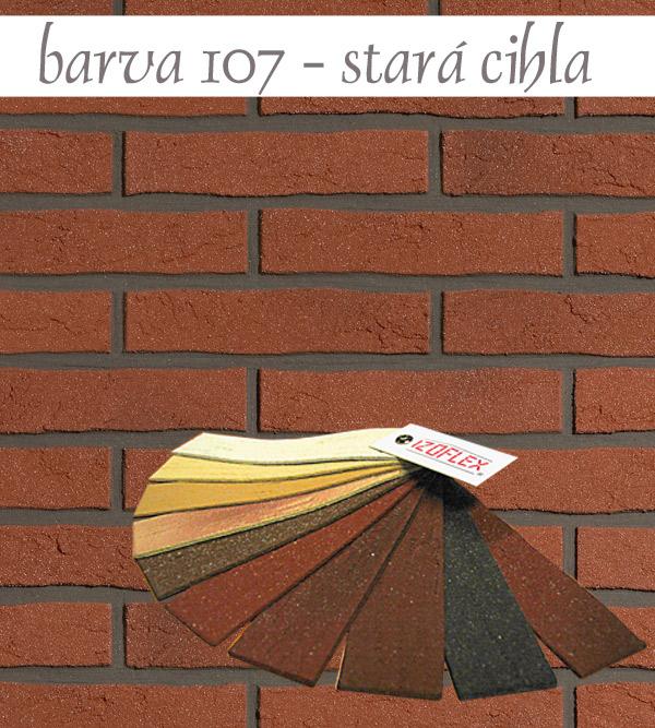 Cihelný obkladový pásek IZOFLEX, č.107 červenohnědá - stará cihla