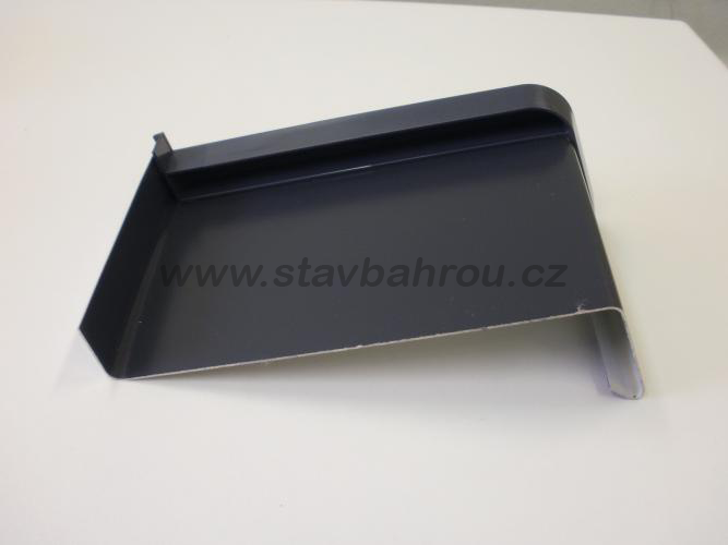 Venkovní okenní pozinkovaný parapet - antracit RAL 7016