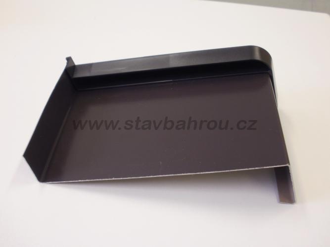 Venkovní okenní pozinkovaný parapet - tmavě hnědá RAL 8019