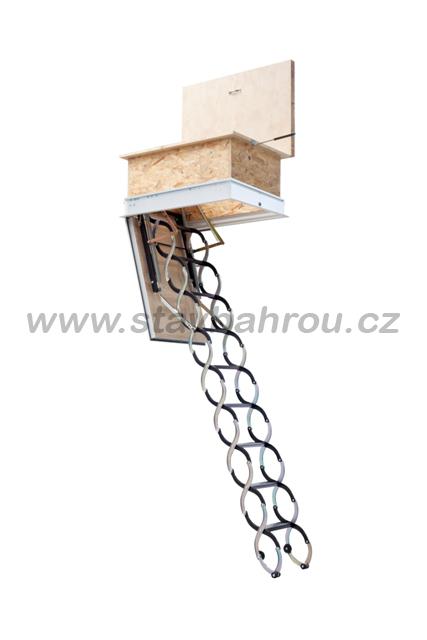 Skládací půdní schody JAP KOMBO PP - protipožární 1000 x 700 mm