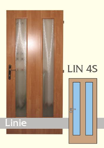 Interiérové dveře laminované Linie 4S