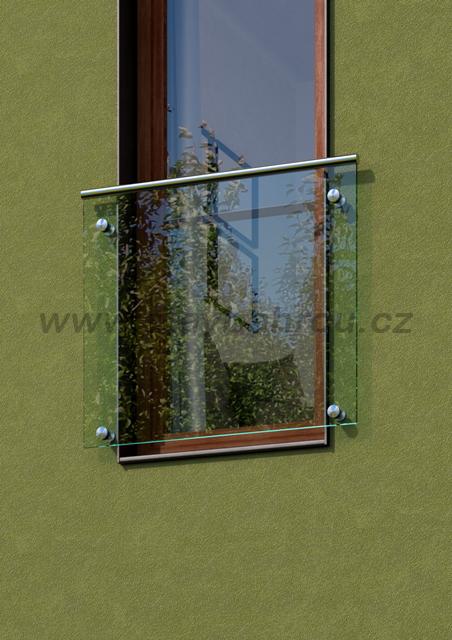 Zábradlí pro francouzské okno ANDROMEDA s madlem