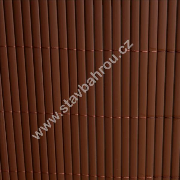 Bambusová rohož hnědá výška role 1,2m