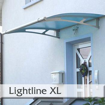 Vchodová stříška Polymer, Lightline XL 2050 x 1420 mm markýza