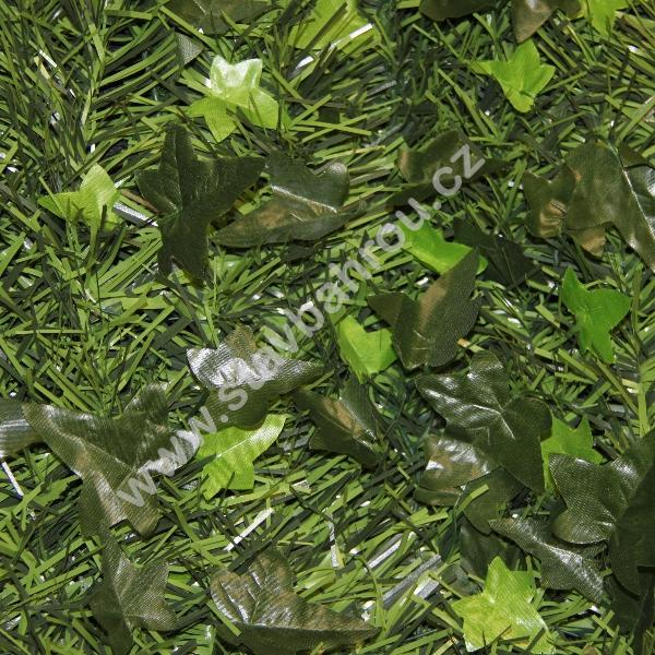 Umělý živý plot Soft hedera - jemné jehličnany a břečťan výška role 2m