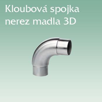 Zábradlí JAP, kloubová spojka madla 3D nerez AISI 304
