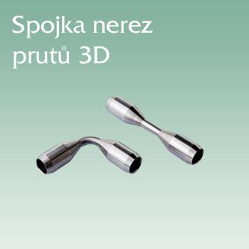 Zábradlí JAP, spojka nerezových prutů 3D nerez AISI 304