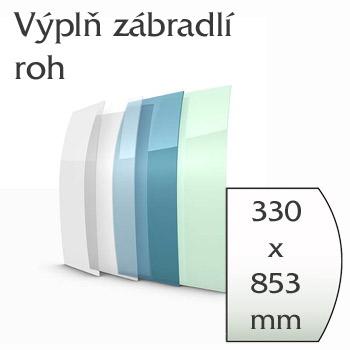 Balkónové zábradlí Lightline - vnější roh výplně