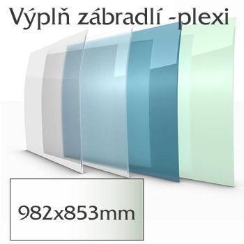 Balkónové zábradlí Lightline - výplň plexisklo