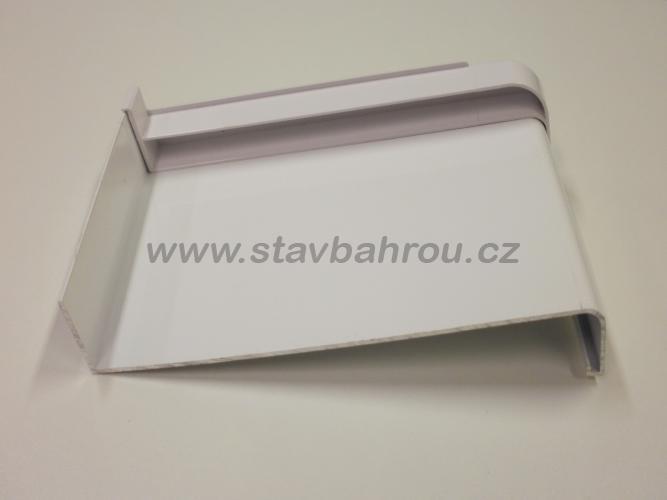 Venkovní okenní hliníkový parapet - bílý RAL 9016