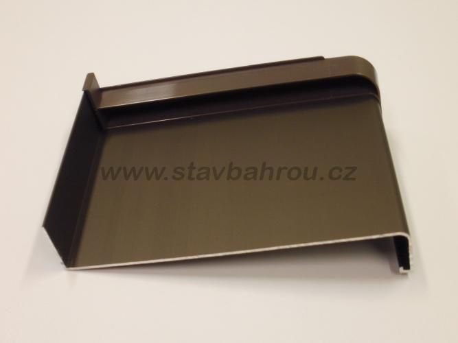 Venkovní okenní hliníkový parapet - elox bronz C33