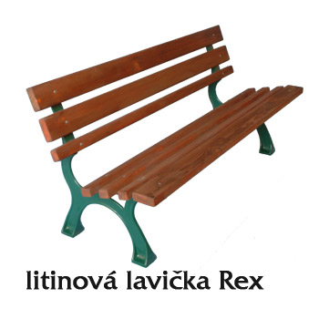 Litinová lavička Rex