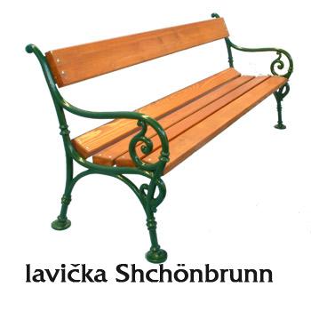 Litinová lavička Shchönbrunn