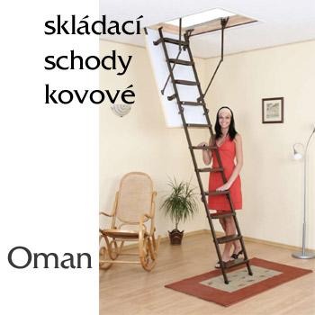 Skládací půdní schody Oman Metal T3