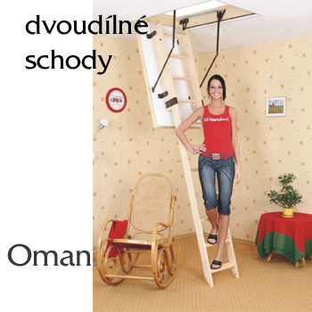 Skládací půdní schody Oman Zasouvací