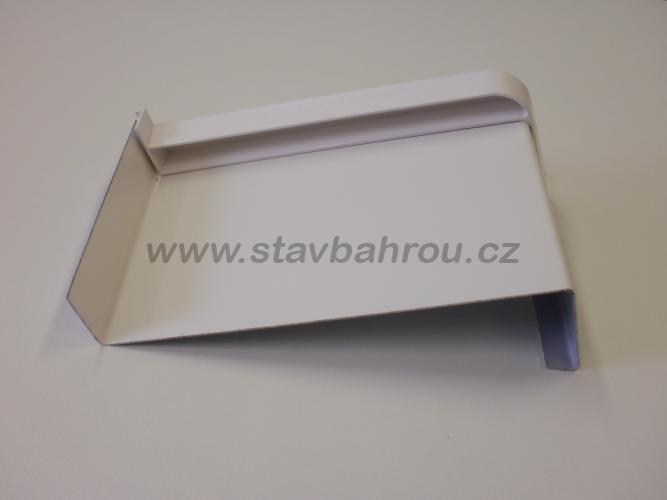 Venkovní okenní pozinkovaný parapet - bílý RAL 9010