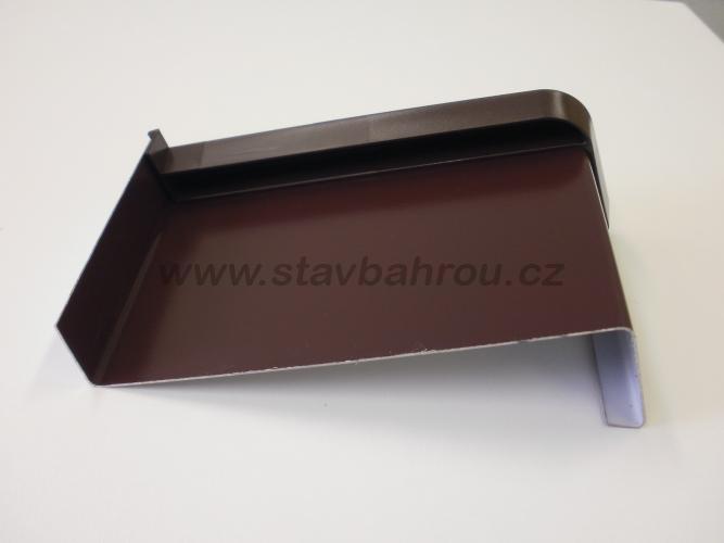 Venkovní okenní pozinkovaný parapet - hnědý RAL 8017