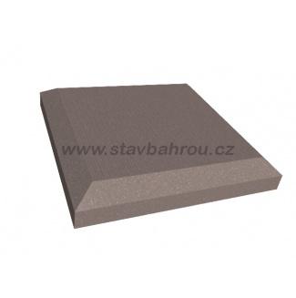 WPC Duofuse krytka plotového sloupku - kamenná šedá