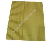 Bambusová rohož žlutá výška role 1m