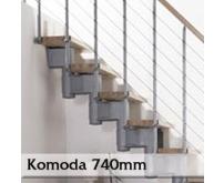 Přímé schodiště Komoda 740mm
