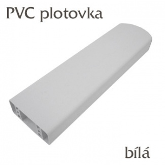 Plastová plotovka bílá