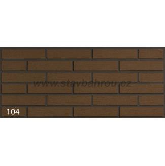 Cihelný obkladový pásek IZOFLEX, č.104 hnědý