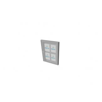 Informační vitrína interiérová 500x700mm, 4xA4